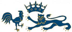 Couronne, coq et léopard